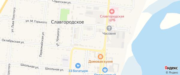 Славгородская улица на карте Славгородского села с номерами домов
