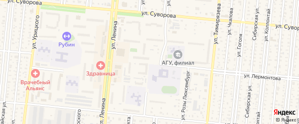 2-й микрорайон на карте Славгорода с номерами домов