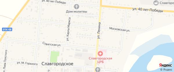 Совхозный переулок на карте Славгородского села с номерами домов