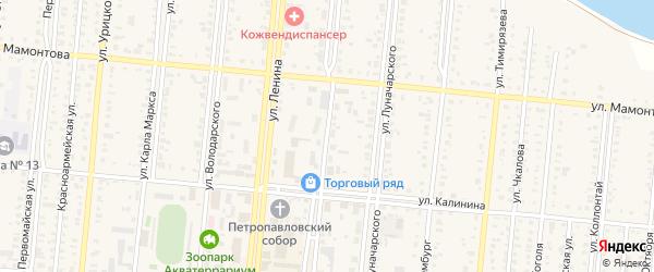 Улица К.Либкнехта на карте Славгорода с номерами домов