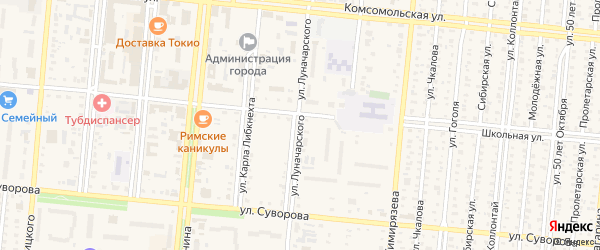 1-й микрорайон на карте Славгорода с номерами домов