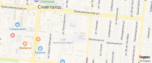 Улица Р.Люксембург на карте Славгорода с номерами домов
