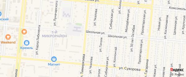 Улица Чкалова на карте Славгорода с номерами домов