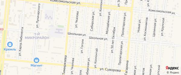 Сибирская улица на карте Славгорода с номерами домов