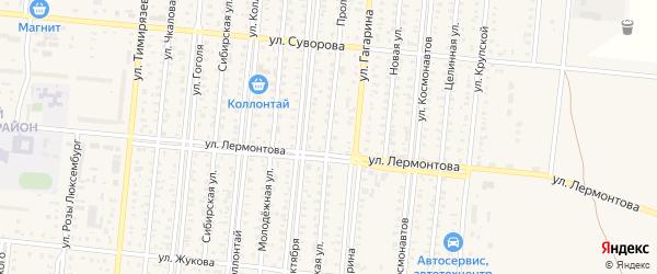 Пролетарская улица на карте Славгорода с номерами домов