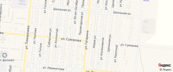 Улица Гагарина на карте поселка Бурсоли с номерами домов