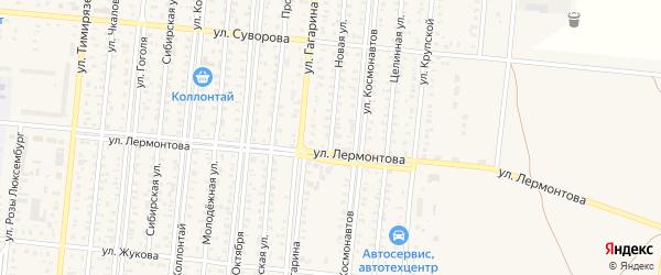 Новая улица на карте села Добровки с номерами домов