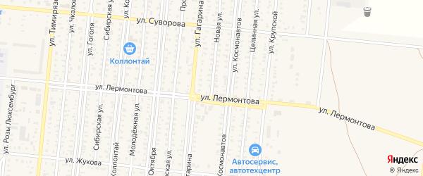 Новая улица на карте поселка Бурсоли с номерами домов