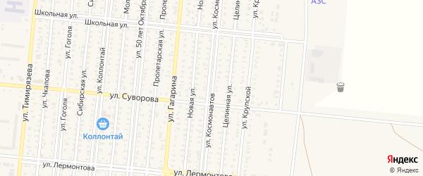 Улица Космонавтов на карте Славгорода с номерами домов