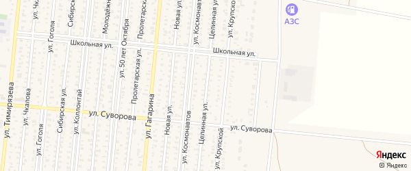 Целинная улица на карте села Екатериновки с номерами домов
