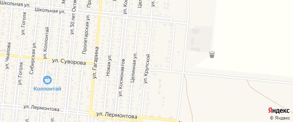 Улица Крупской на карте Славгорода с номерами домов