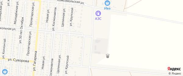 Кирпичная улица на карте Славгорода с номерами домов