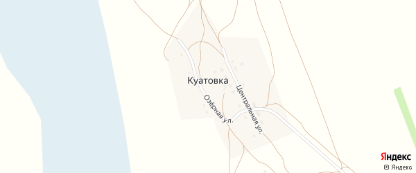 Новая улица на карте села Куатовки с номерами домов
