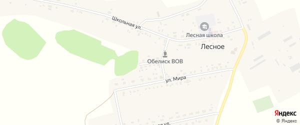 Лесная улица на карте Лесного села с номерами домов