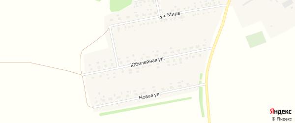 Юбилейная улица на карте Лесного села с номерами домов