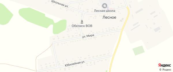 Улица Мира на карте Лесного села с номерами домов