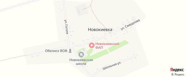 Улица Гоголя на карте села Новокиевка с номерами домов