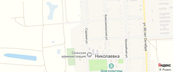 Садовая улица на карте села Николаевки с номерами домов
