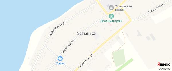 Молодежная улица на карте села Устьянки с номерами домов