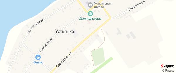Совхозная улица на карте села Устьянки с номерами домов