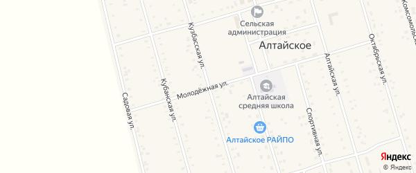 Кузбасская улица на карте Алтайского села с номерами домов