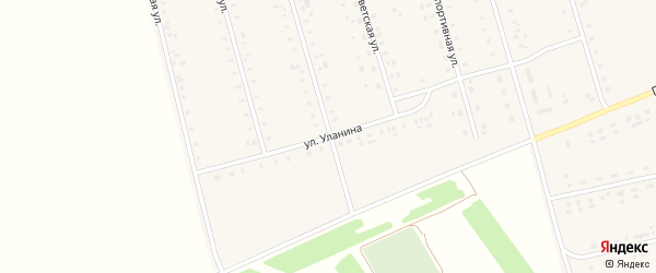 Улица Уланина на карте Алтайского села с номерами домов