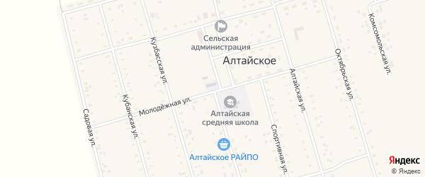 Молодежная улица на карте Алтайского села с номерами домов