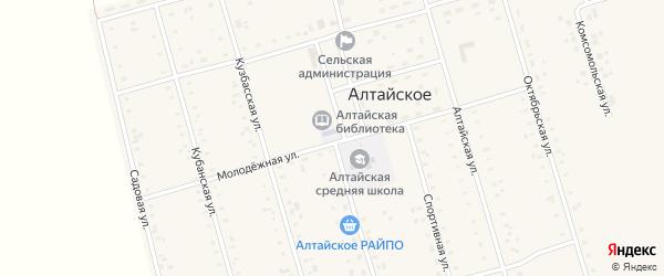 Молодежная улица на карте села Новороссийка с номерами домов