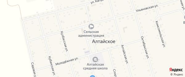 Улица Гагарина на карте Алтайского села с номерами домов