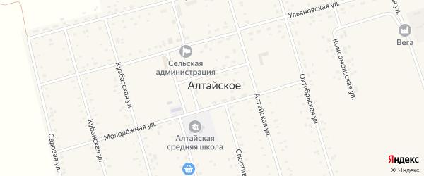 Кубанская улица на карте Алтайского села с номерами домов