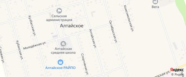 Алтайская улица на карте Алтайского села с номерами домов