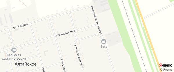 Комсомольская улица на карте Алтайского села с номерами домов