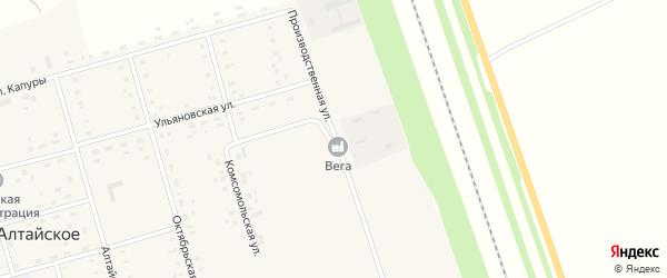 Производственная улица на карте Алтайского села с номерами домов