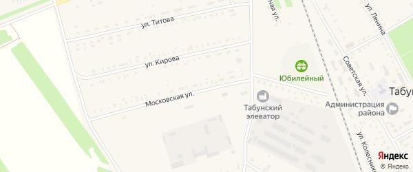 Московская улица на карте Алтайского села с номерами домов