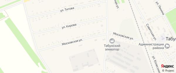 Московская улица на карте села Табуны с номерами домов