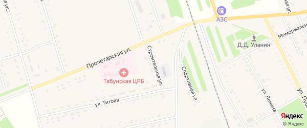 Строительная улица на карте села Табуны с номерами домов