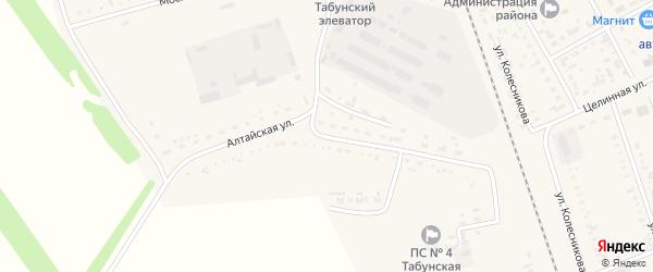 Алтайская улица на карте села Табуны с номерами домов