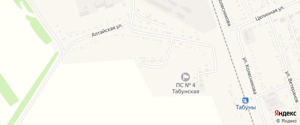 Улица Энергетиков на карте села Табуны с номерами домов