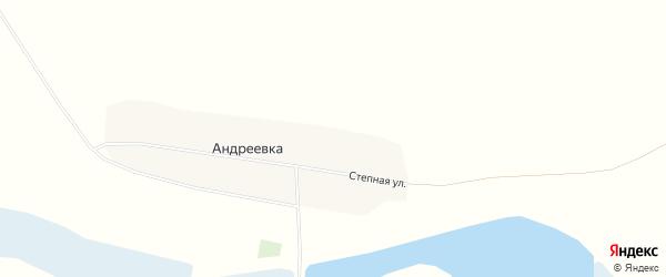 Карта села Андреевки города Славгорода в Алтайском крае с улицами и номерами домов