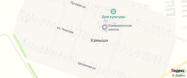 Улица Чкалова на карте села Камыши с номерами домов
