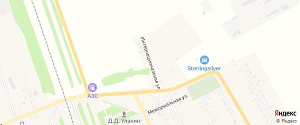 Интернациональная улица на карте села Табуны с номерами домов