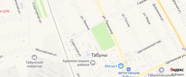 Улица Ленина на карте села Табуны с номерами домов