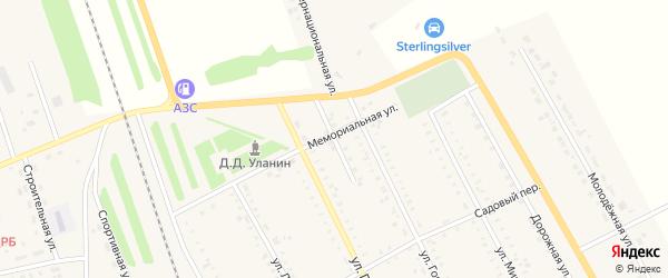 Первомайская улица на карте села Табуны с номерами домов