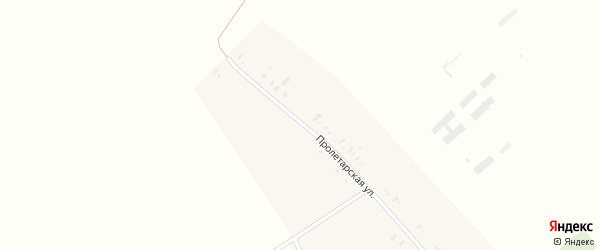 Пролетарская улица на карте Забавного села с номерами домов