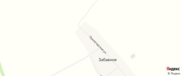 Карта Забавного села в Алтайском крае с улицами и номерами домов