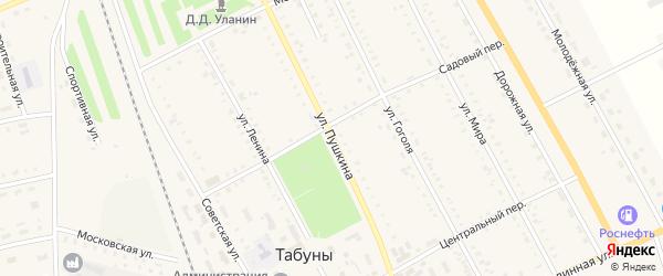 Улица Пушкина на карте села Табуны с номерами домов