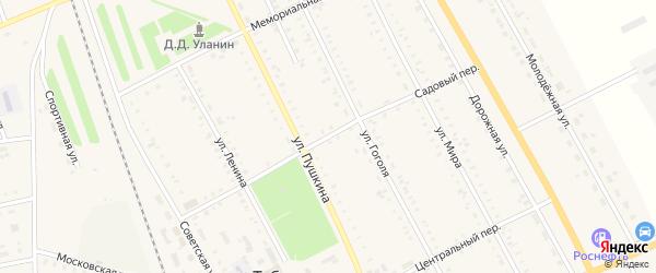 Садовый переулок на карте села Табуны с номерами домов