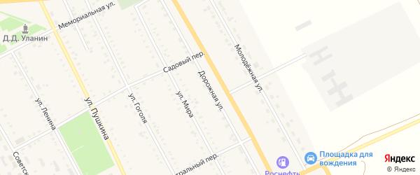 Дорожная улица на карте села Табуны с номерами домов