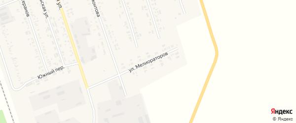Улица Мелиораторов на карте села Табуны с номерами домов