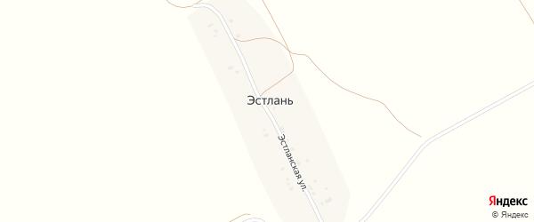 Эстланская улица на карте поселка Эстлани с номерами домов